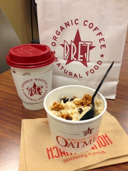 Variety of breakfasts from Pret