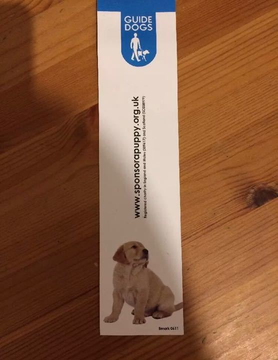 Guide dogs bookmark