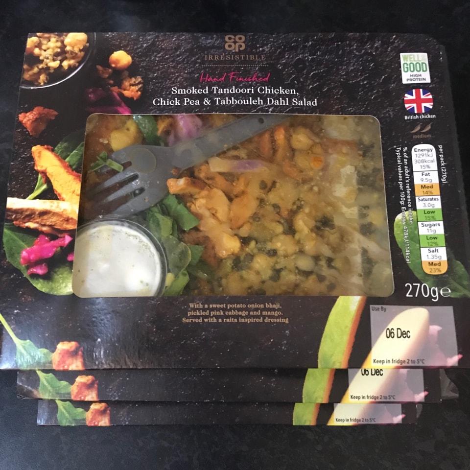 Smoked tandoori chicken salad