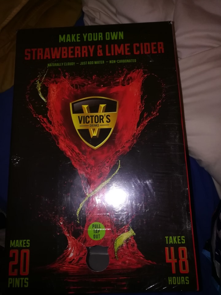 Free Make your own 20 litres of strawberry and lime CIDER out of date but Dry ingredients