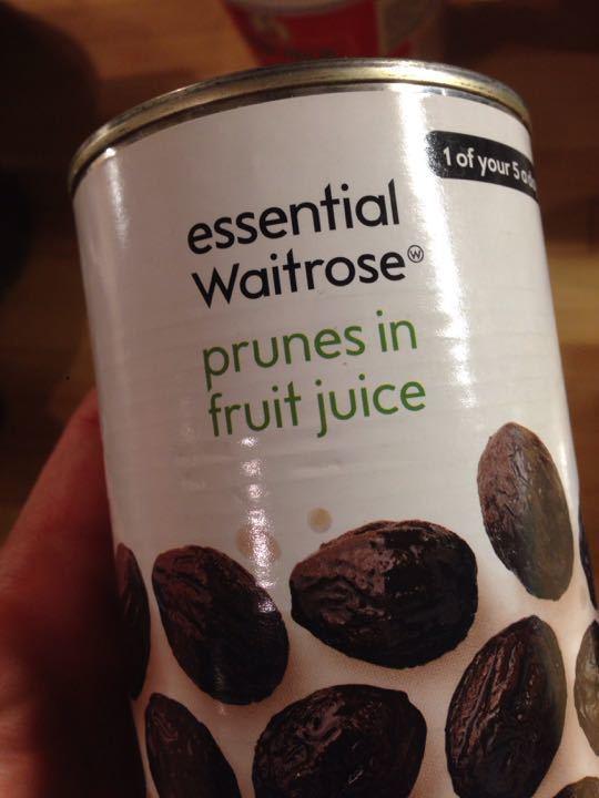Prunes in fruit juice