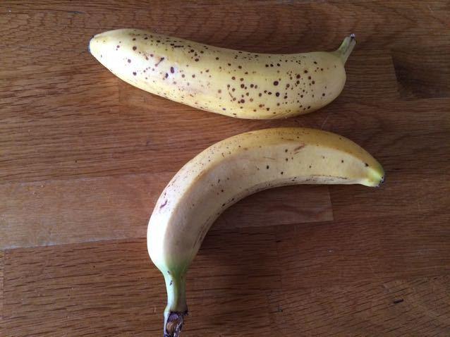 2 ripe bananas