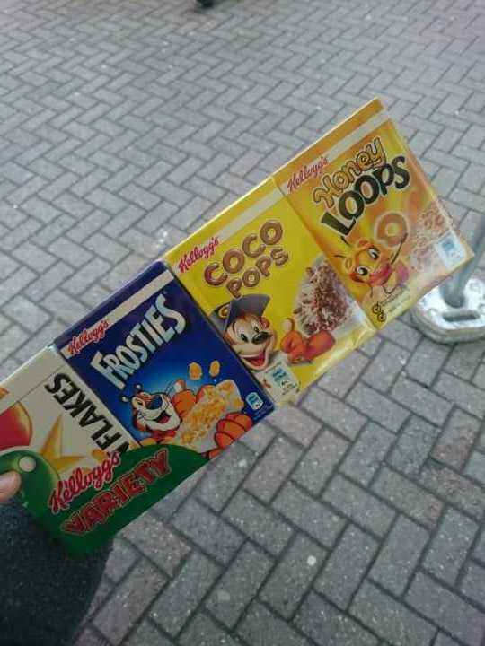 Kellogs pack of cereals