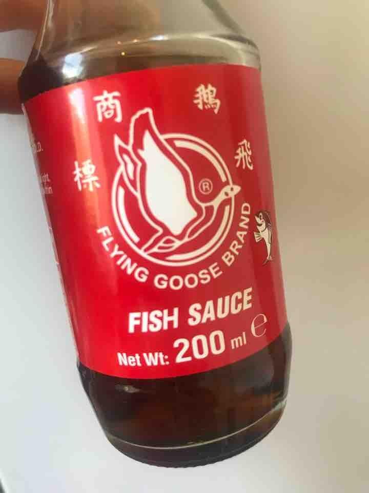 Fish sauce 3/4 full