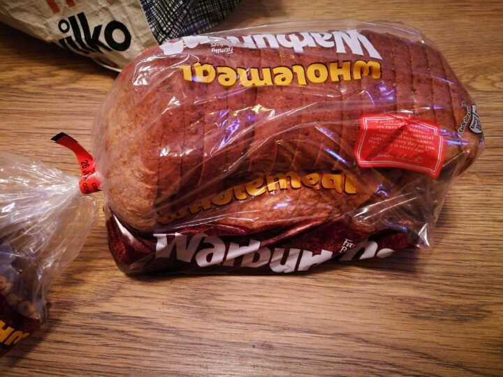 Warburtons wholemeal bread x 2