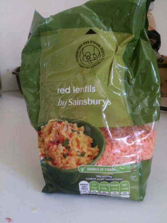 Red lentils by Sainsbury's