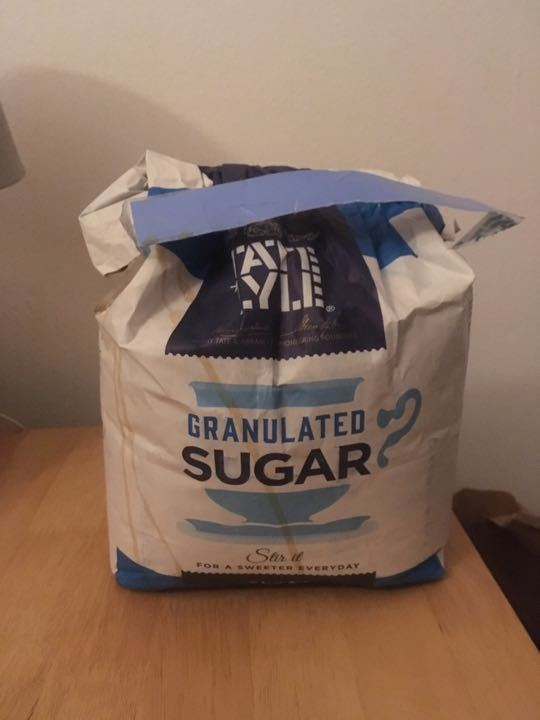 4kg granulated Tate and Kyle sugar. Opened 5kg bag.