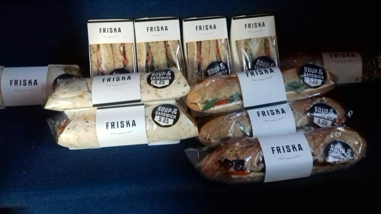 Friska selection Vegan, available M15 5RG.