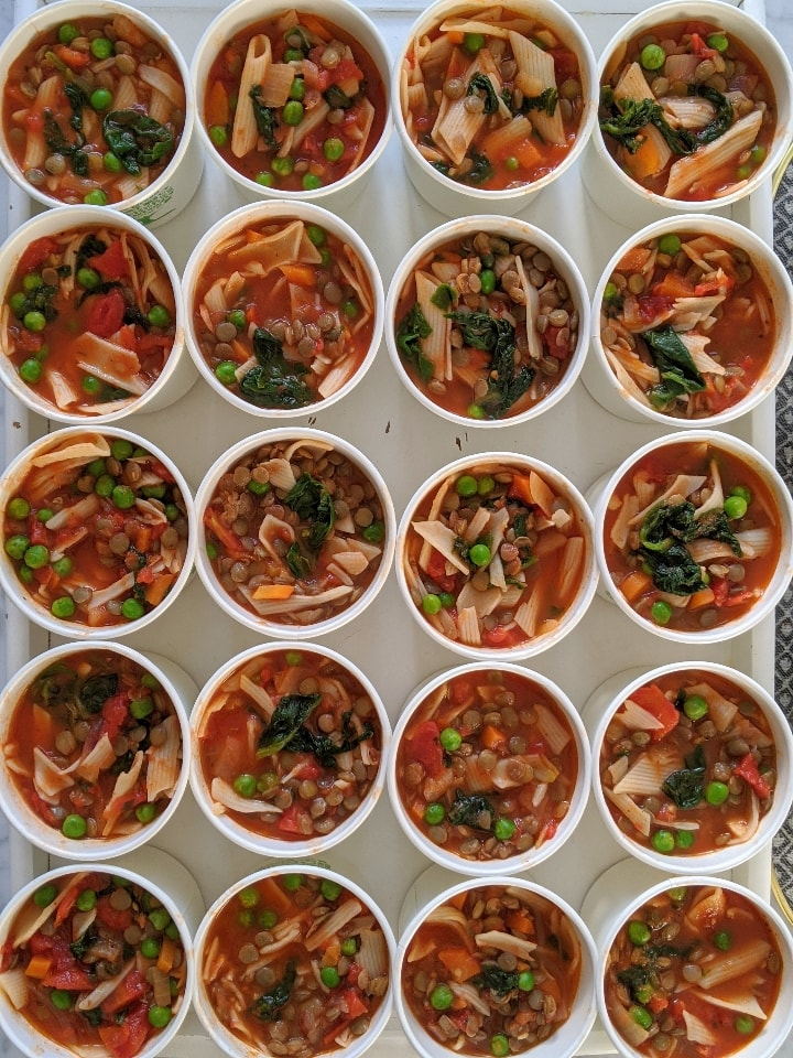 homemade minestrone style chunky soup