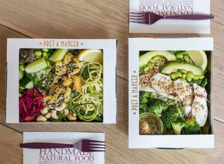 Pret A Manger baguettes, flat breads and wraps