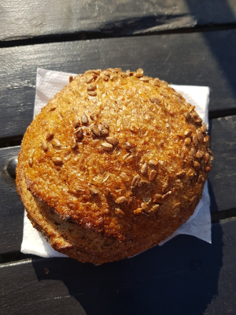 Round loaf of bread from Les Petits Boudains