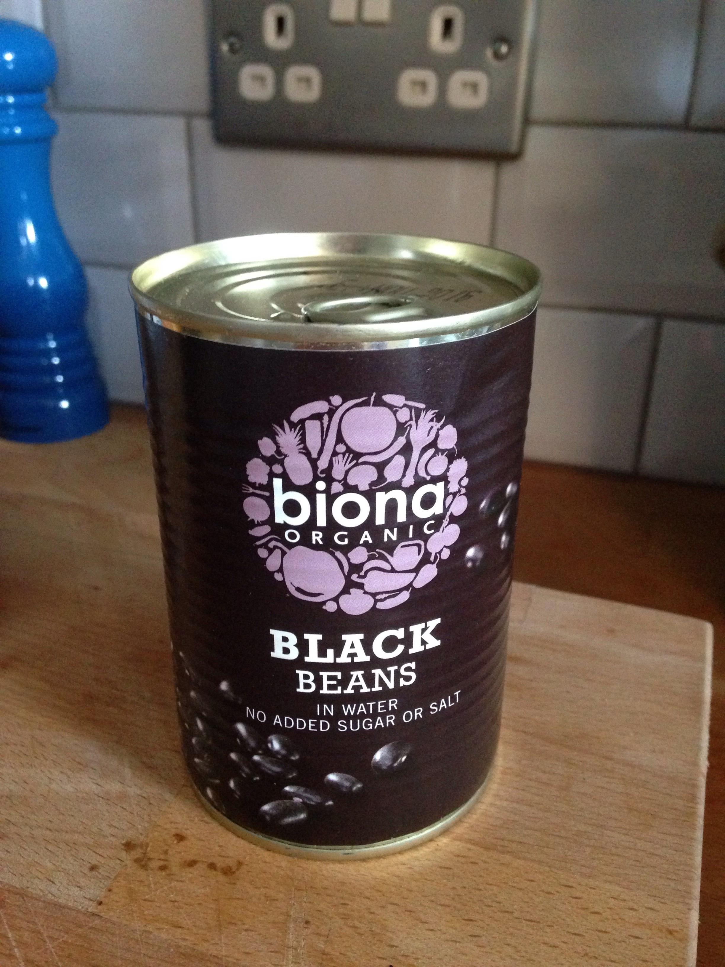 Biona organic black beans unopened