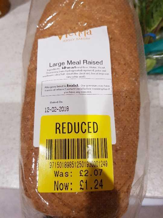 Large meal raised