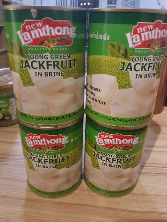 4 large tins of jackfruit