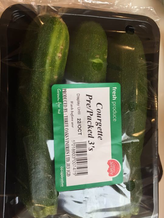 Courgette pre packed