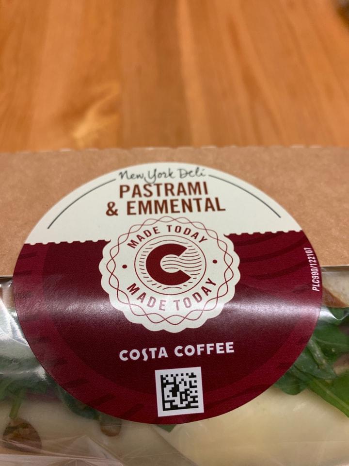 costa pastrami sandwich