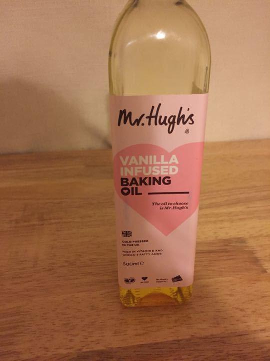 Half bottle of Mr Hugh's Vanilla infused baking oil