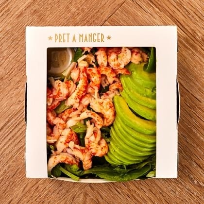 PRET -  Crayfish, Avocado salad