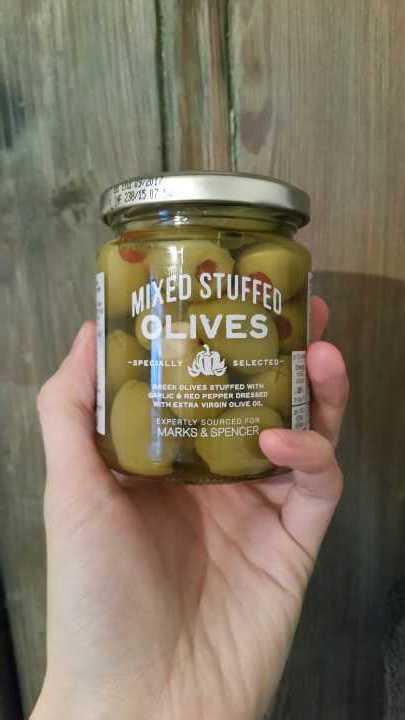 Mixed stuffed olives