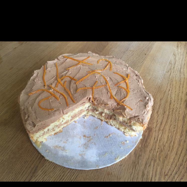 3/4 Chocolate Orange Genoise Sponge