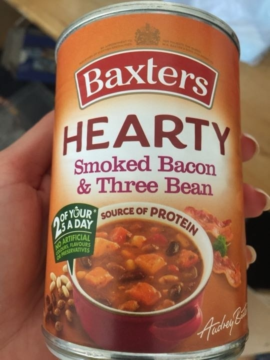 Bacon and three bean soup