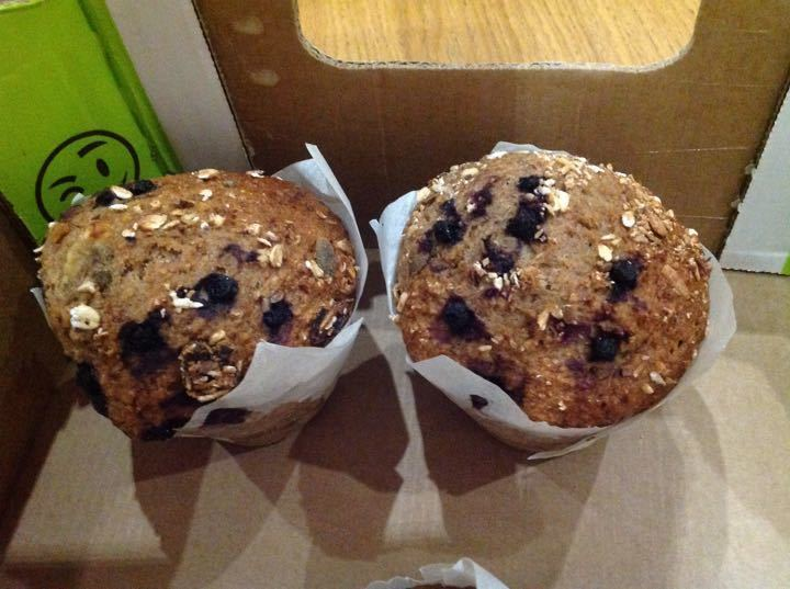 Blueberry muffins from Nude food