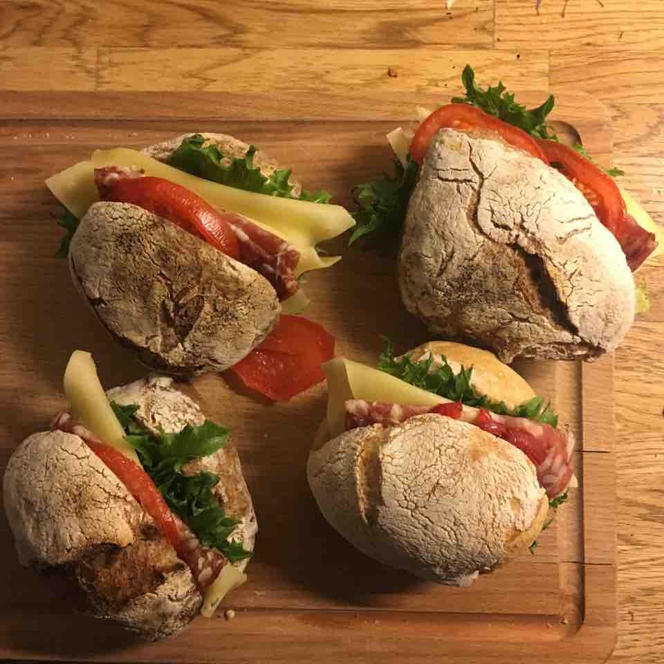 4 Salami Cheese sandwiches