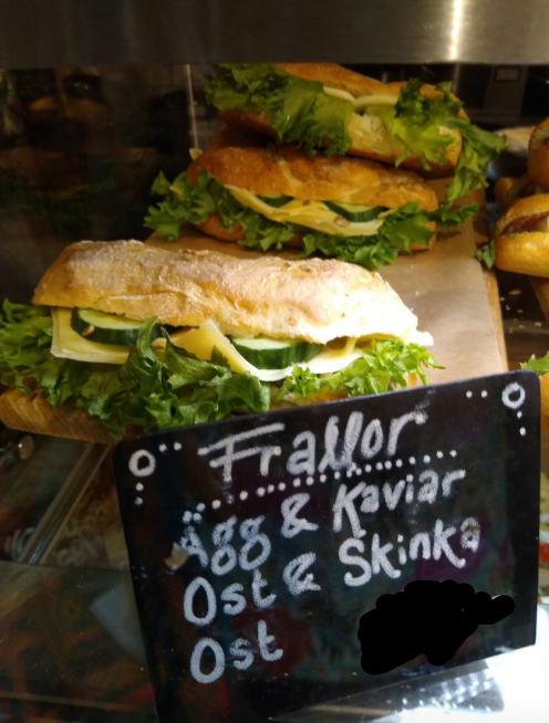 1 x ham sandwich