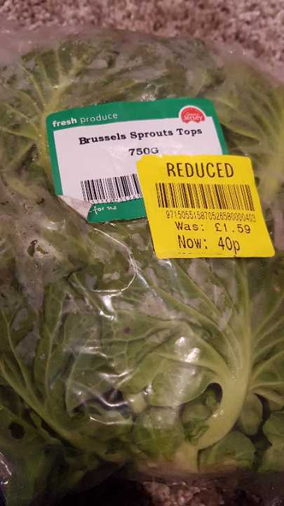 Brussel sprouts tops