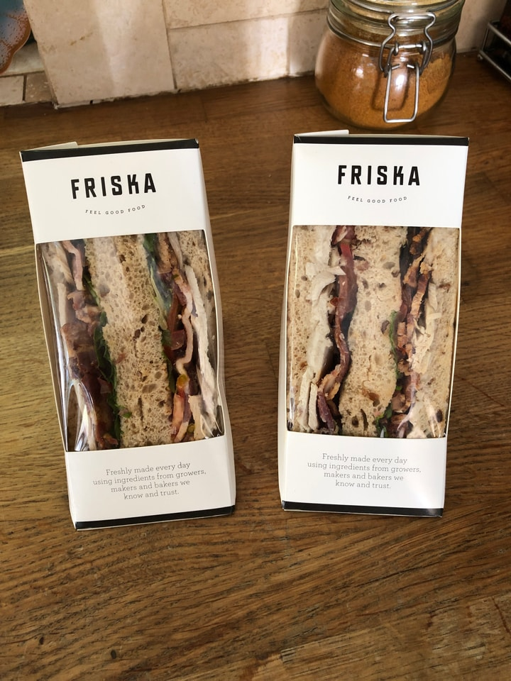 FRISKA 2 x chicken bacon sandwiches