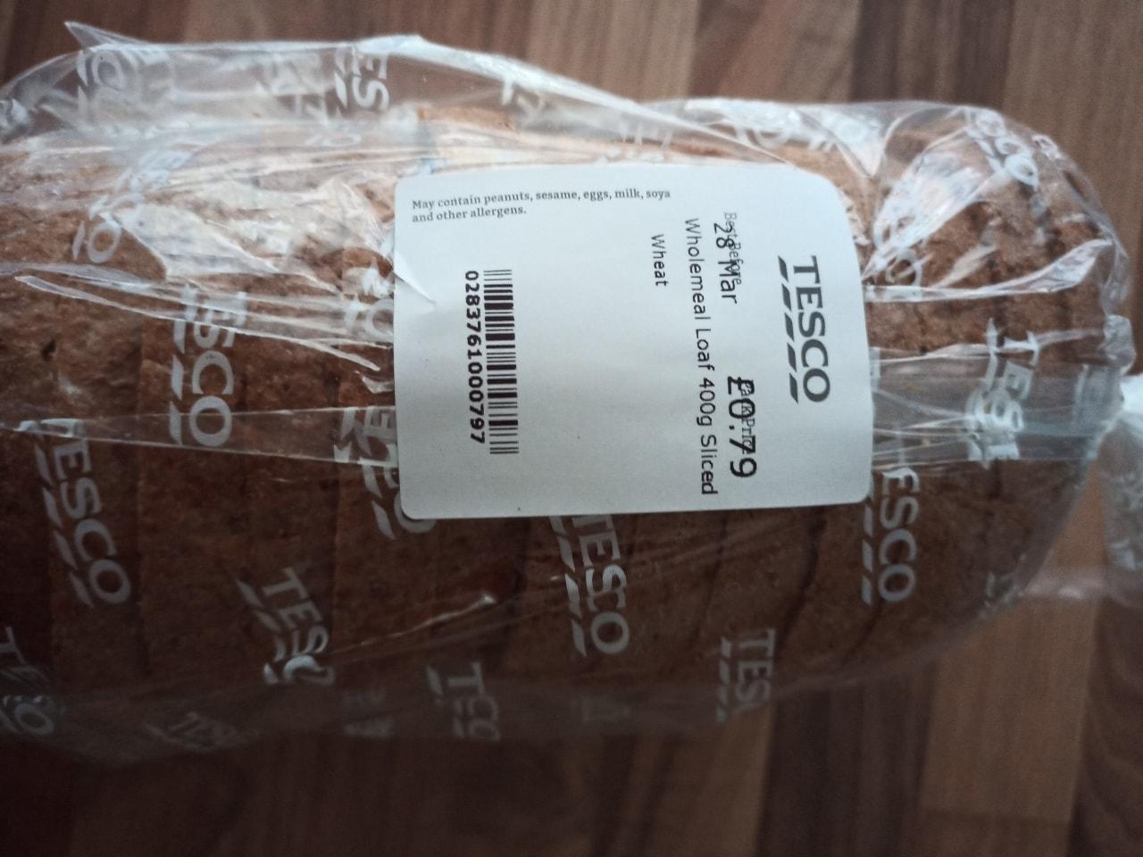 Wholemeal sliced loaf 400g