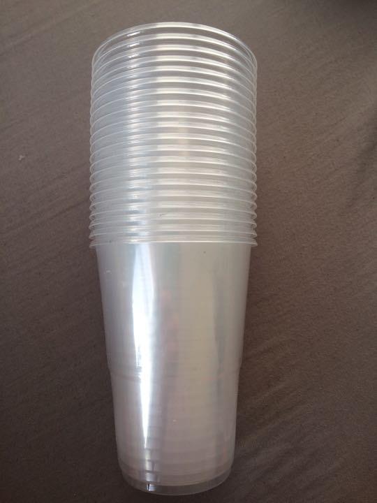 20 Unused plastic cups