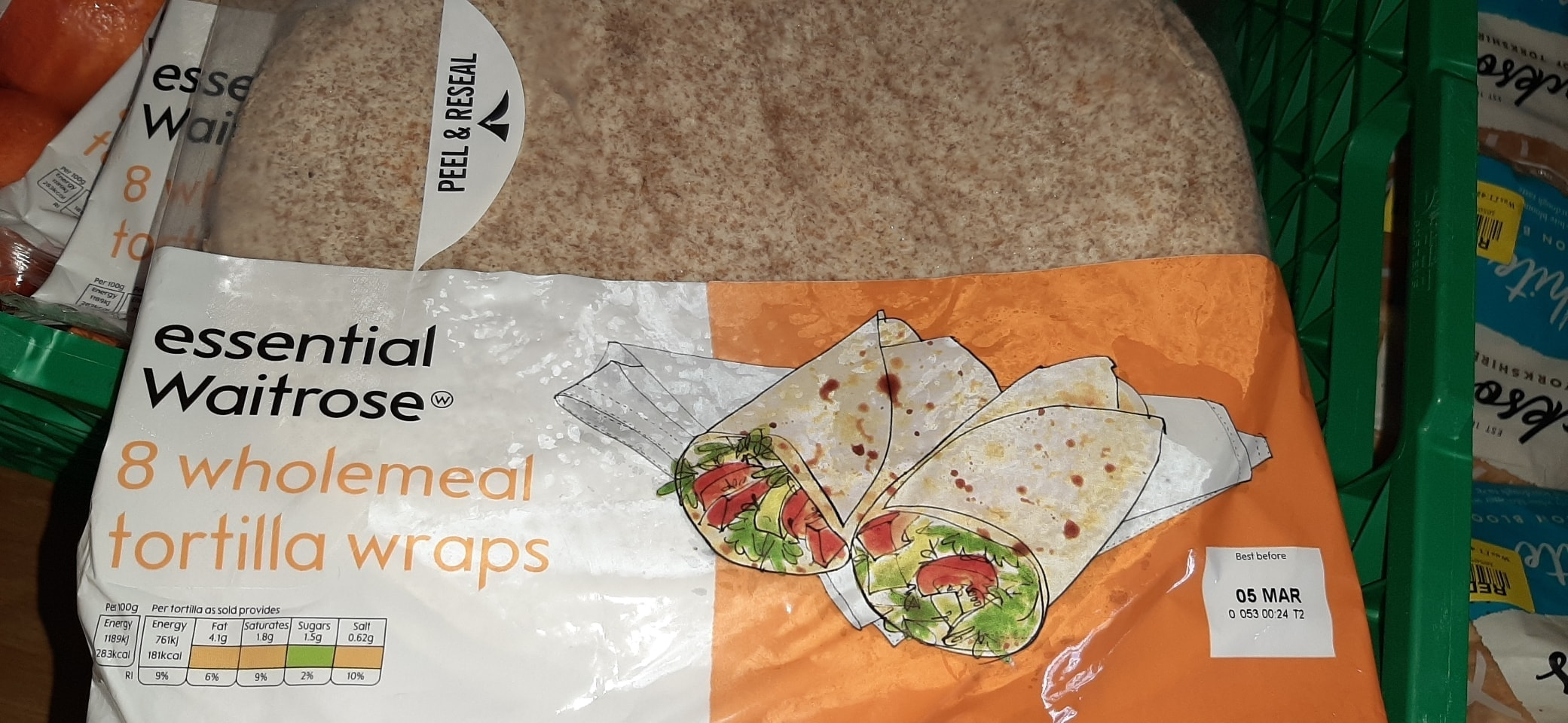 Wholemeal wraps
