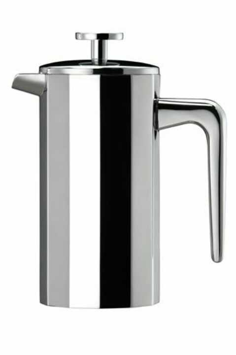 Small, stainless steel cafetière (3-cup)