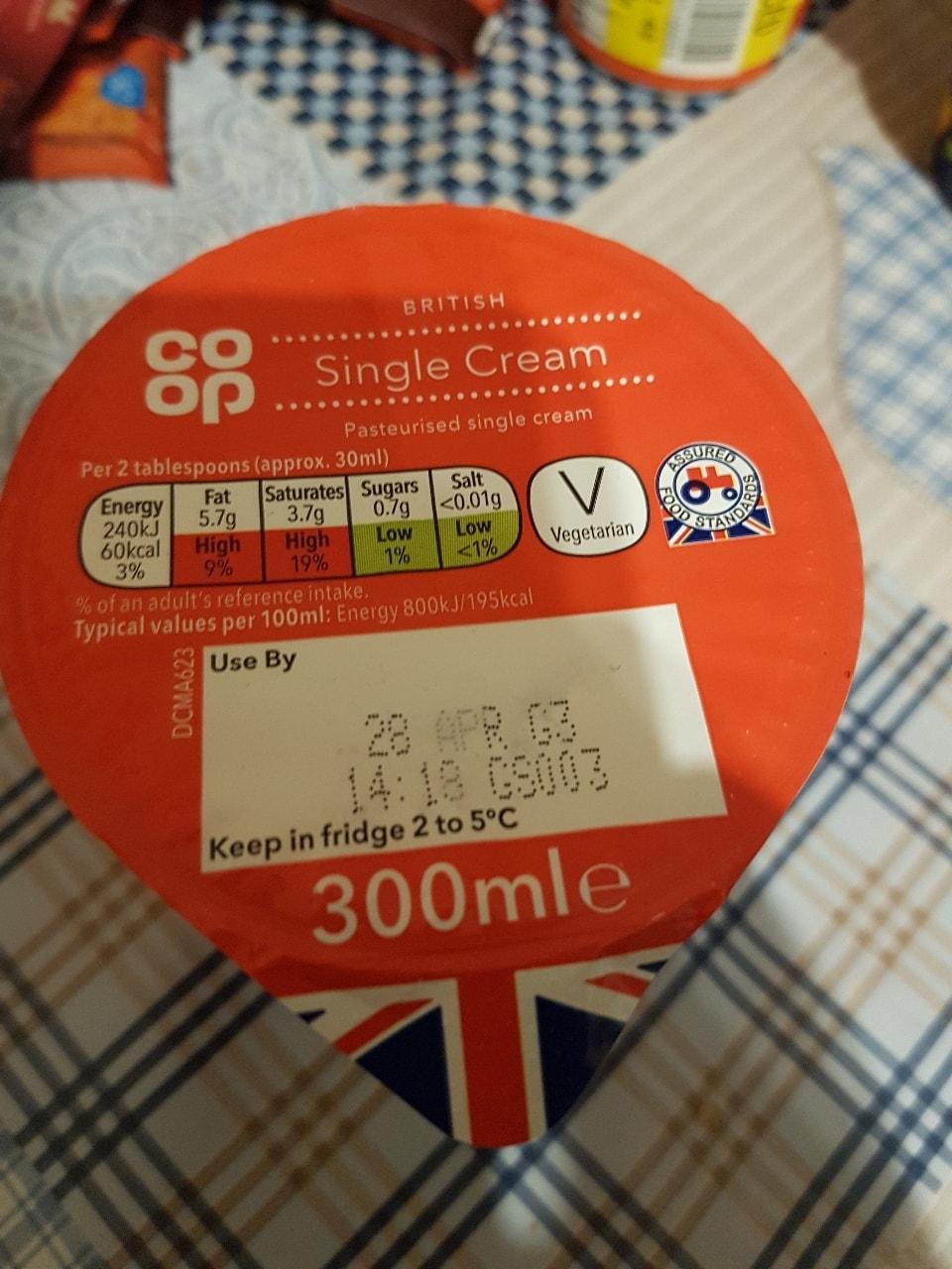 Single cream 300ml