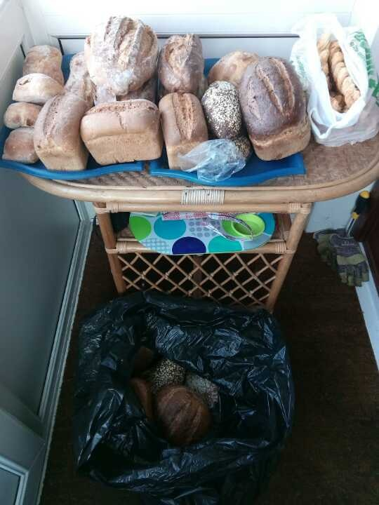 Woodingdean pick-up: lots of bread and cheese sticks