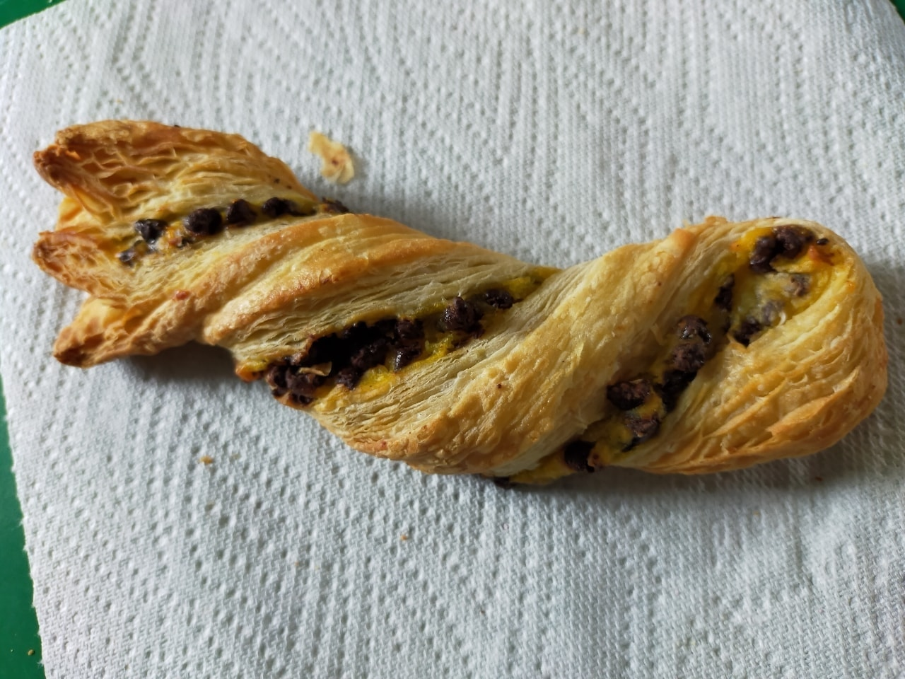 Tesco in-store bakery chocolate twist