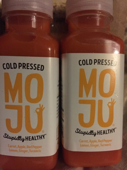Cold pressed juice with turmeric and ginger