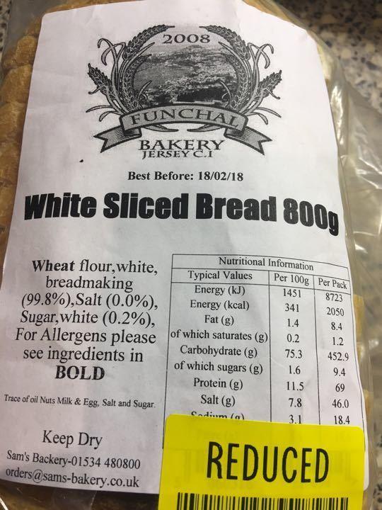 White sliced breadX 2