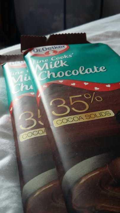 Baking milk chocolate