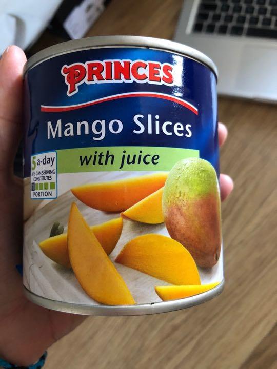 Mango slices tinned