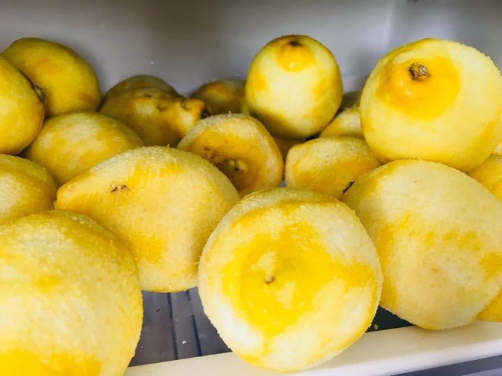20 or so Zested lemons.