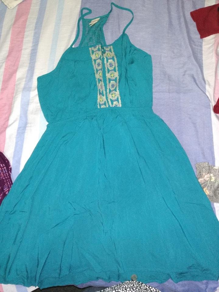 Vestido color verde Aqua