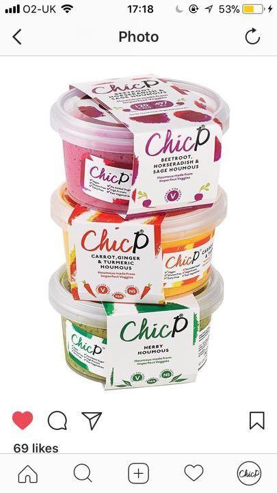 Variety of ChicP hummus