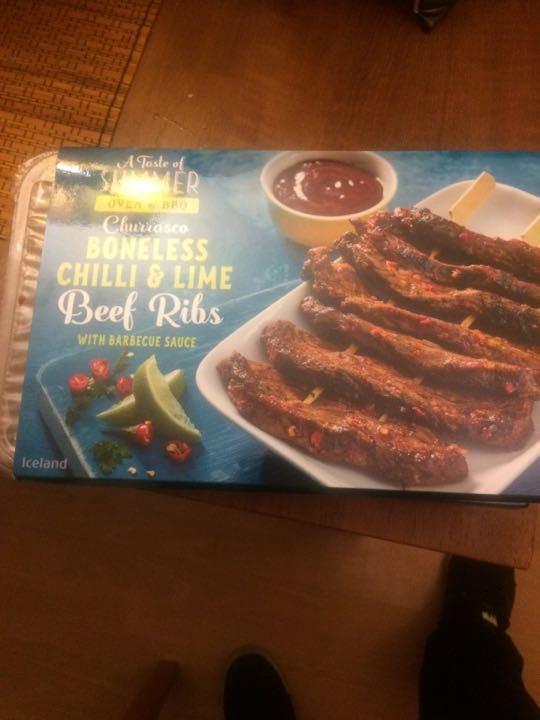 Boneless Chilli & Lime Beef Ribs x2