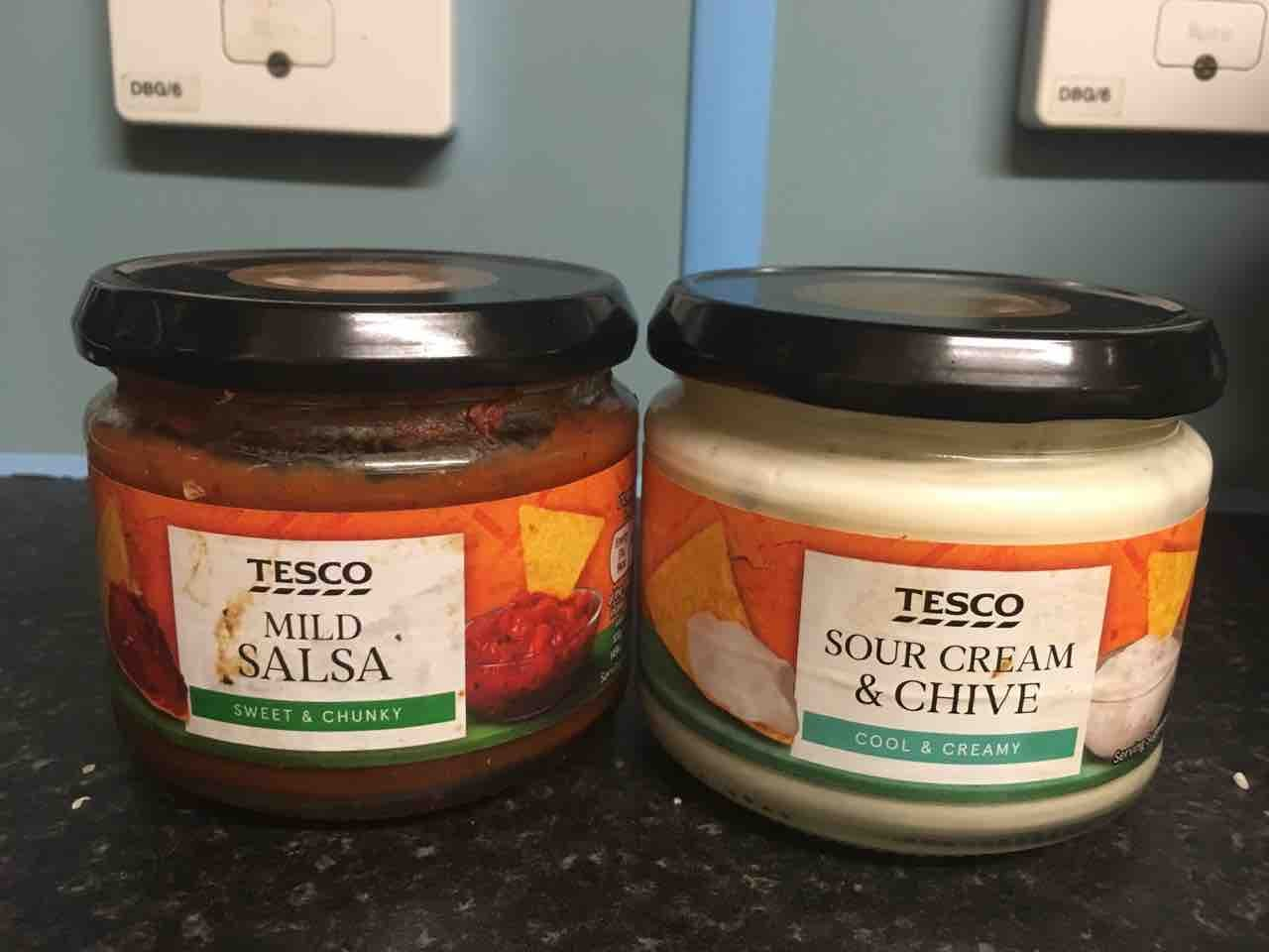 Tesco salsa and sour cream dip