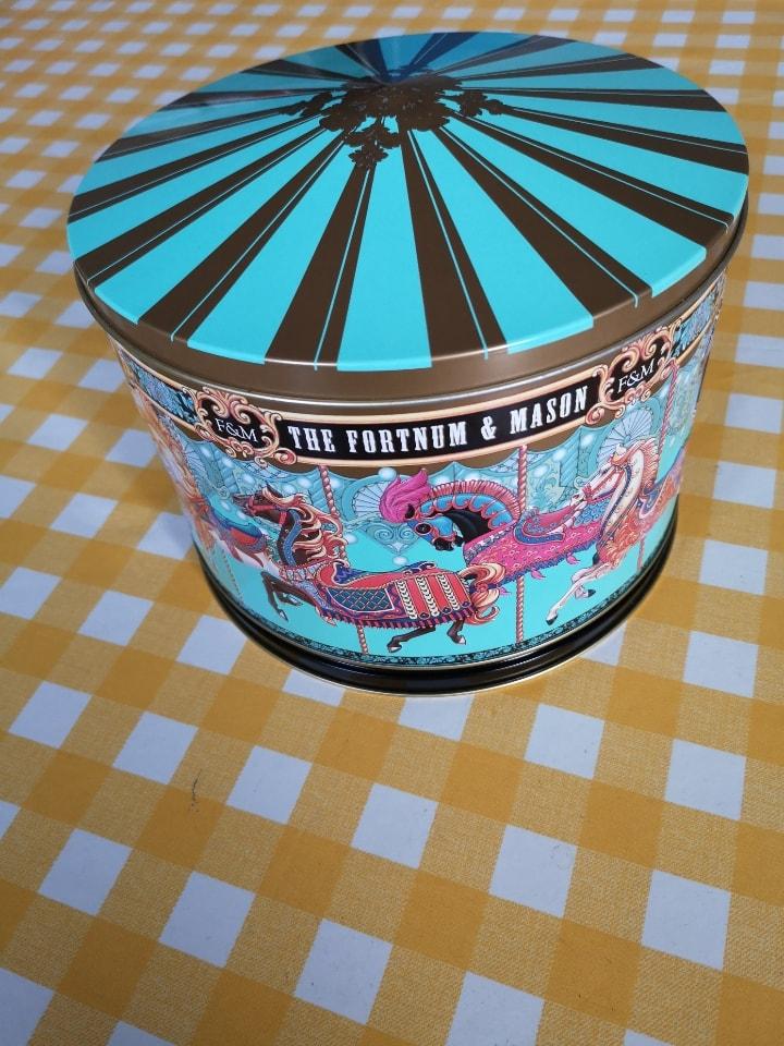 Musical Fortnum & Mason biscuit tin