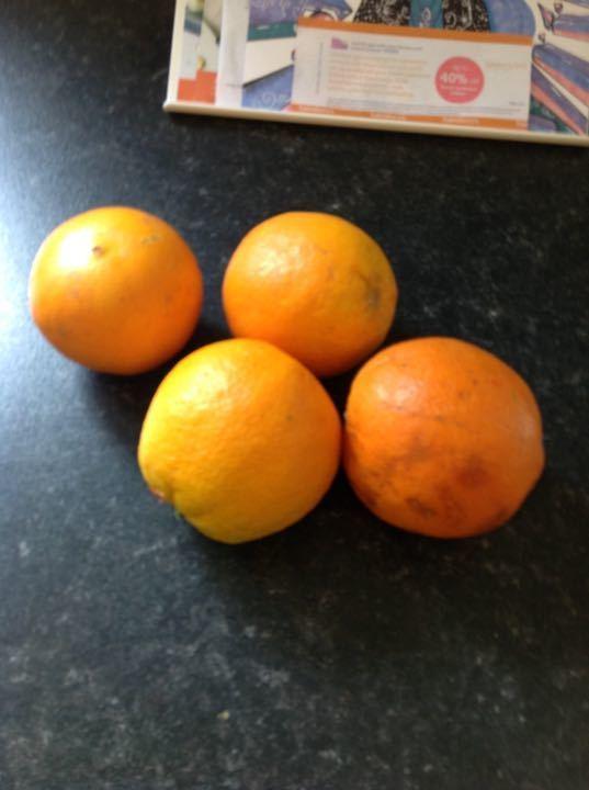 Bag of four oranges