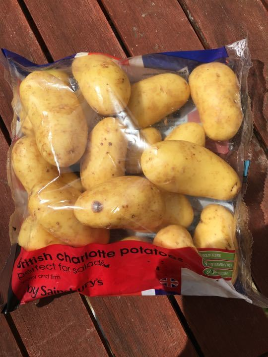 British Charlotte potatoes
