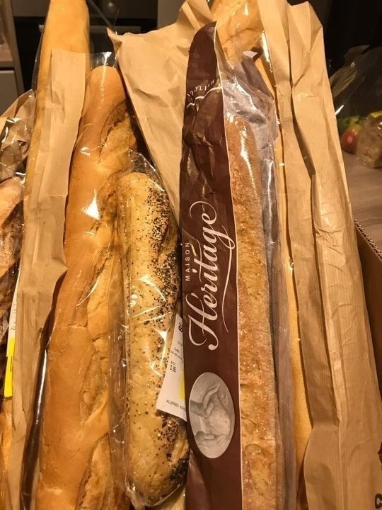 Lots of French breads